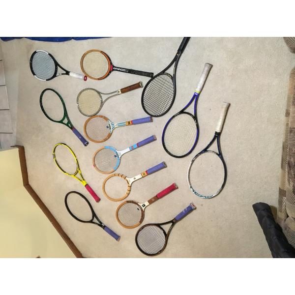 LOT of VINTAGE AND MODERN RACKETS