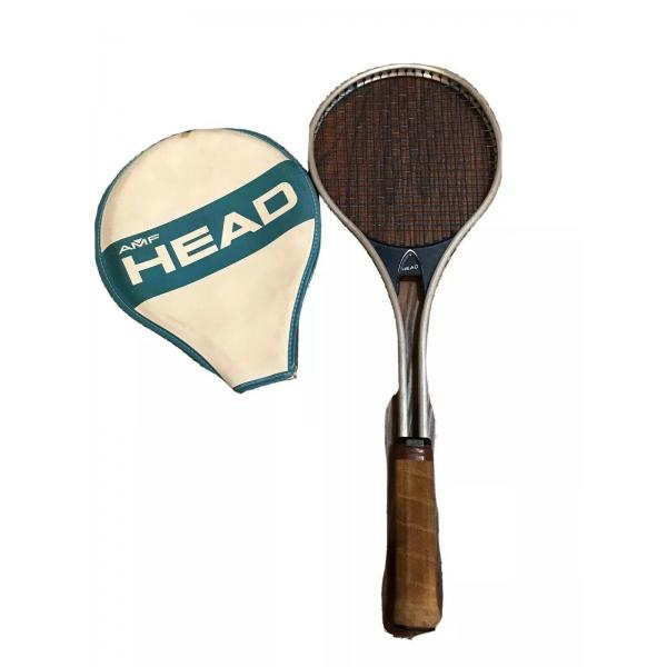 1970s AMF Head Tennis Racket With Cover Master 472 4 1/2 M.