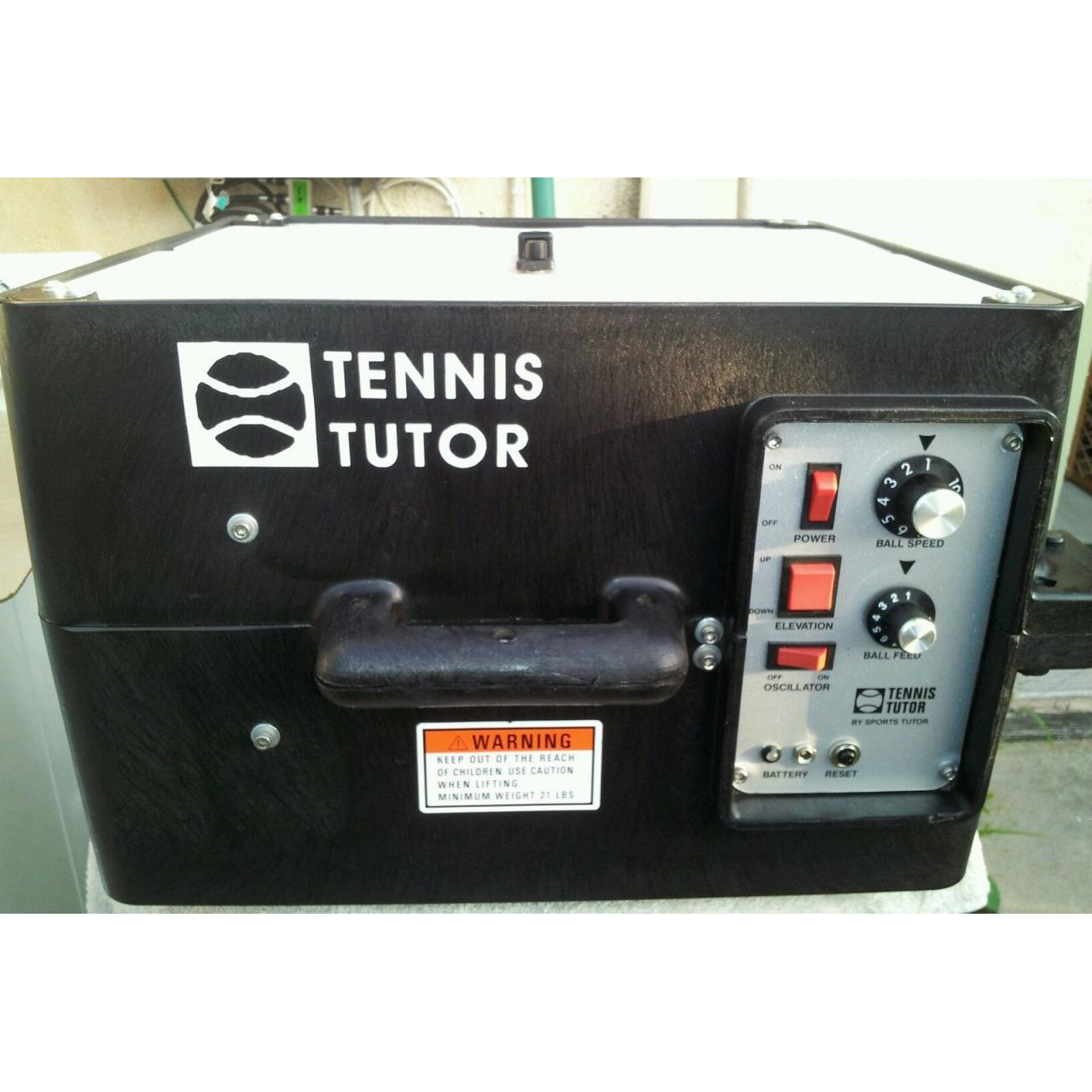 Tennis Tutor w/ Heavy Duty Battery ball machine